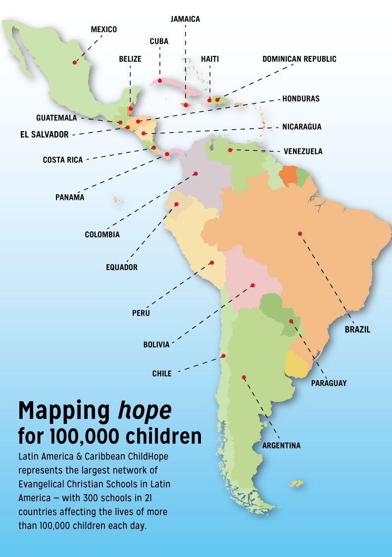 Map of 21 ChildHope countries