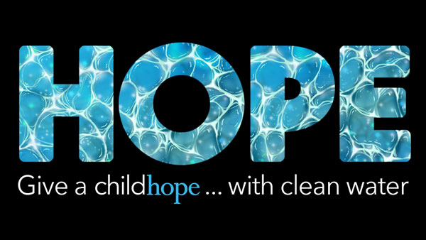 Give a child hope with clean water.